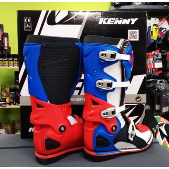 Мотоботы KENNY Bottes-Titanium Blue/White/Red (44)