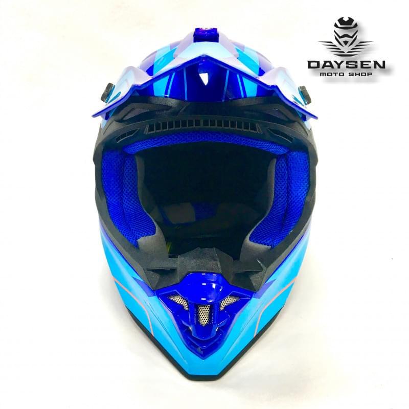 Мотошлем FS - 607 SDH (Glossy Blue Light Blue, L)