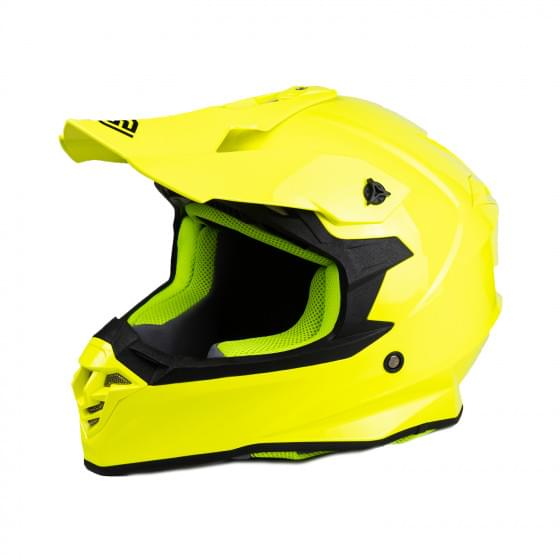 Мотошлем FS - 607 SOLID (Fluo Yellow, S)