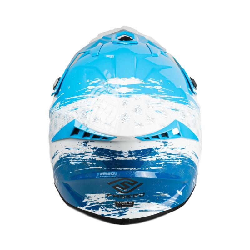 Мотошлем FS-610 Fiber JMSZL (Glossy blue white, S)