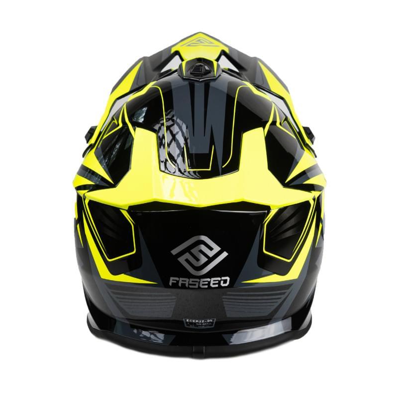 Мотошлем FS-609 PKQH (Glossy black yellow, S)