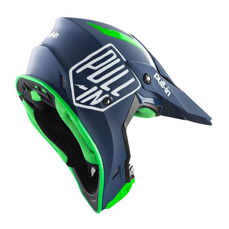Шлем PULL-IN casque mx solid navy (M)