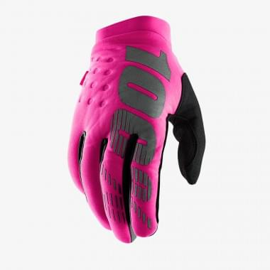 Мотоперчатки женские 100% Brisker Womens Glove Neon Pink/Black L