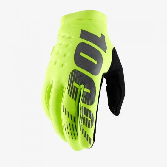 Мотоперчатки подростковые 100% Brisker Youth Glove Fluo Yellow M