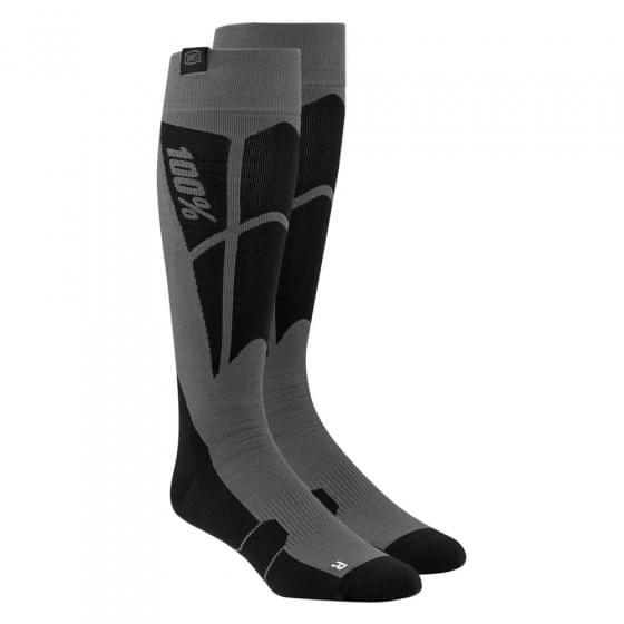 Носки 100% Hi-Side Performance Moto Socks Black/Steel Grey S/M