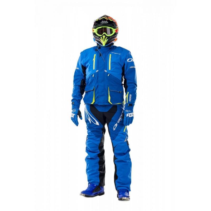 Комплект (куртка + штаны) Эндуро Freeride DF Blue-Yellow