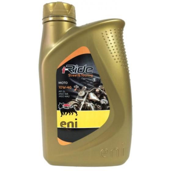 Масло моторное полусинтетическое 4-х тактное Eni i-Ride moto 10w40 1л.