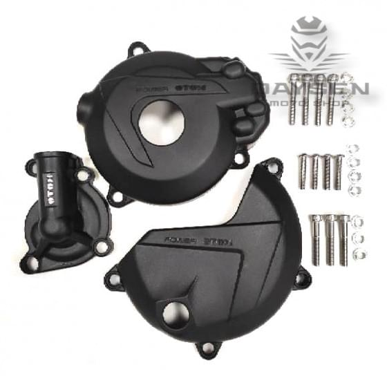 Защита крышек мотора OTOM черная