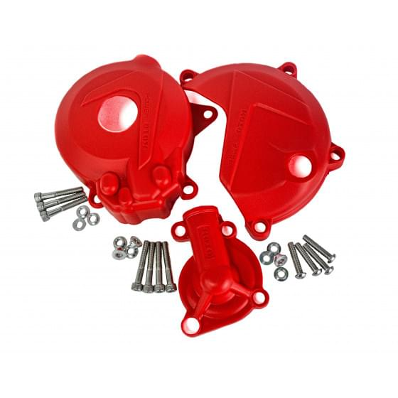 Защита крышек мотора OTOM красная