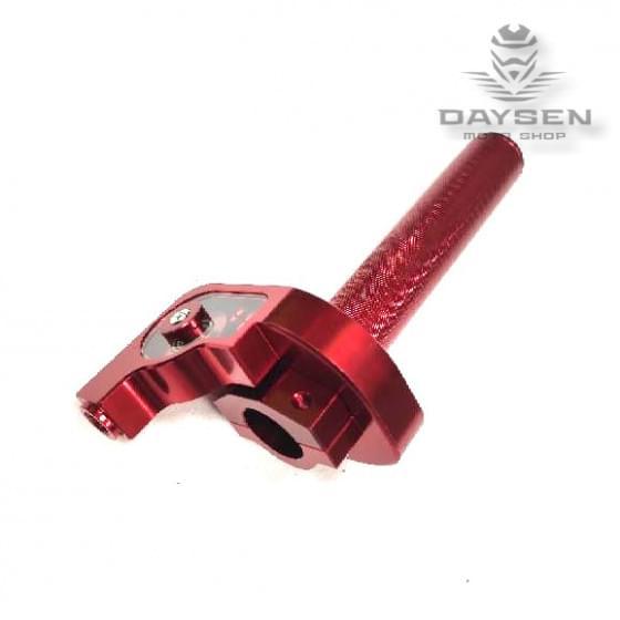 Ручка газа в сборе CNC красная