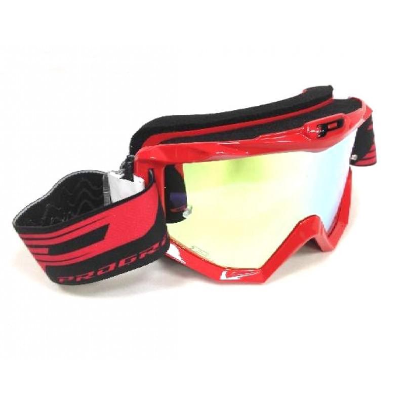 Очки PROGRIP Atzaki FL Red Multilayer mirror Yellow Lens