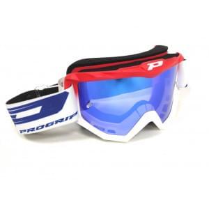 Очки PROGRIP Atzaki FL Red/White Multilayer mirror Blue Lens