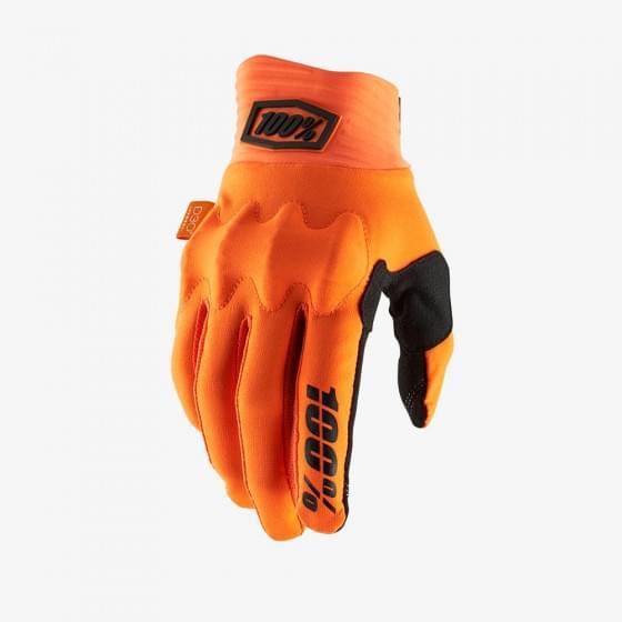 Мотоперчатки 100% Cognito D3O Glove Fluo Orange/Black
