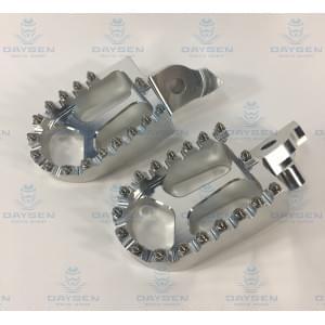 Комплект подножек CNC серебристые