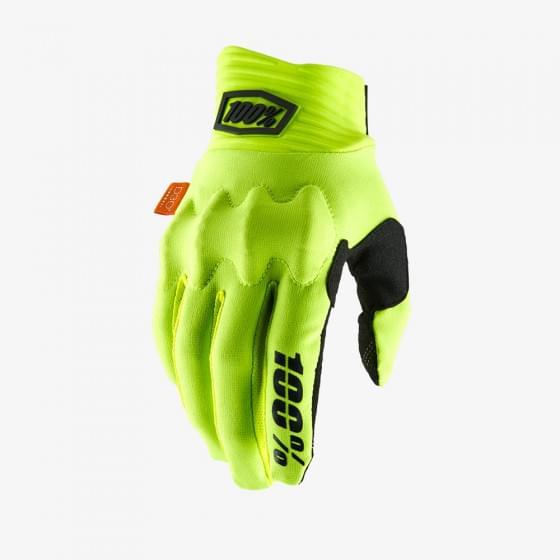 Мотоперчатки 100% Cognito D3O Glove Fluo Yellow/Black