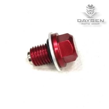 Пробка сливная масляная CNC с магнитом красная