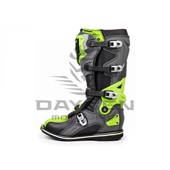 Мотоботы KENNY Bottes-Titanium Grey/Neon-Yellow (41)