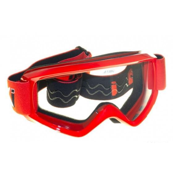 Очки для мотокросса детские ATAKI HB-115 красные глянцевые